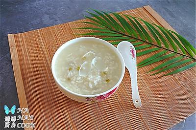 清润的绿豆百合粥