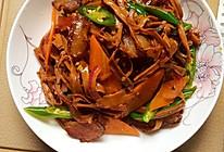 腊肉炒干笋的家常菜的做法