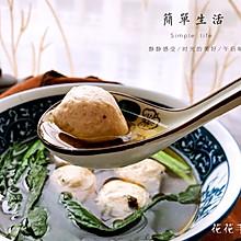 菠菜丸子汤#春天不减肥,夏天肉堆堆#