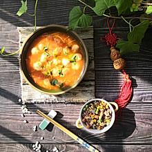 #憋在家里吃什么#健脑益智前强身健体番茄龙利鱼丸子汤