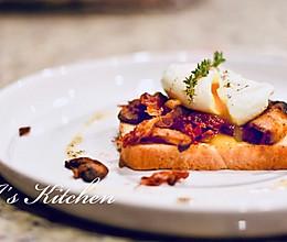10分钟的优雅: 蘑菇班尼迪克早餐的做法