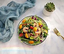 #百变水果花样吃#藜麦虾仁轻食沙拉的做法