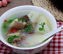 热腾腾的萝卜炖羊肉汤的做法