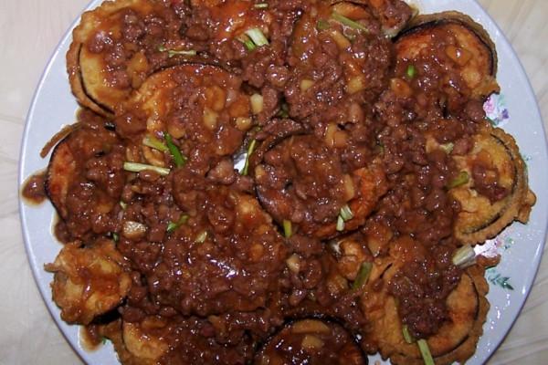 肉末茄盒的做法