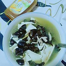 减脂肉丝木耳白豆腐汤