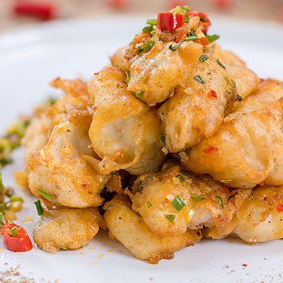 椒盐九肚鱼|美食台