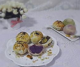 苏氏月饼~紫薯、抹茶、蛋黄酥齐上阵~~~的做法