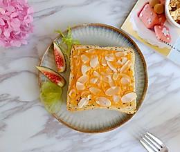 #夏日消暑,非它莫属#芝士奶油酱烤杏仁吐司的做法