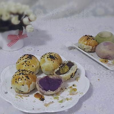 蘇氏月餅~紫薯、抹茶、蛋黃酥齊上陣~~~