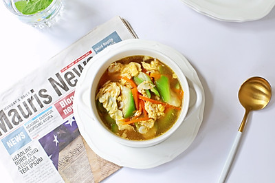 虾皮丝瓜汤