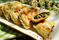 素食记~木耳虾皮韭菜盒子
