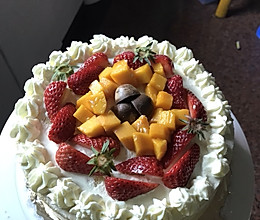 生日蛋糕,含8寸蛋糕配方的做法