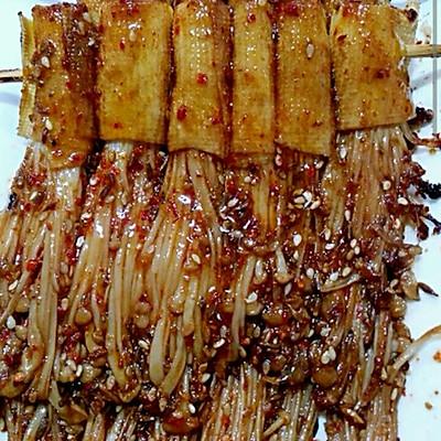 烧烤金针菇