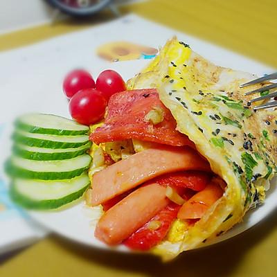 十分钟快手营养早餐——鸡蛋饼(原创)