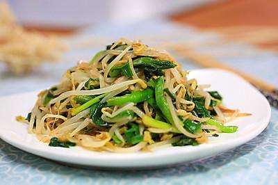 韭菜炒绿豆芽—迷迭香