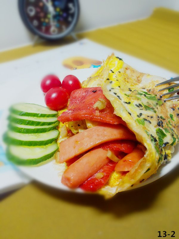 十分钟快手营养早餐——鸡蛋饼(原创)的做法