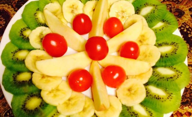 创意水果拼盘—绿意盎然