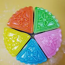 懒人版超简易五颜六色冰皮月饼(多成品图展示)