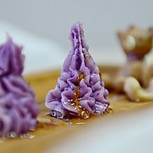 桂花山药紫薯泥
