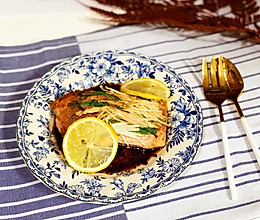 柠香烤三文鱼的做法