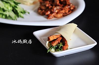 京酱肉丝卷饼