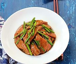 猪肝炒韭菜的做法