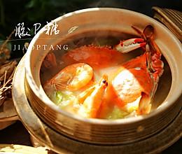 白菜豆腐海鲜汤#快手又营养,我家的冬日必备菜品#的做法