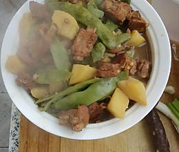 排骨炖豆角(油豆)的做法