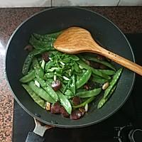 腊肠炒荷兰豆的做法图解12