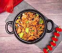 长长久久煲(肥肠鸡肉煲),香辣诱人的川味年夜饭的做法