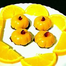 南瓜豆沙糯米团子+#发现粗食之美#