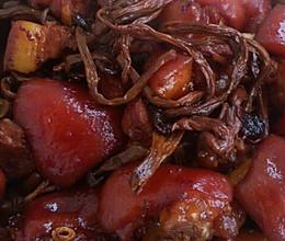 茶树菇红烧猪蹄(胖妈私房菜)的做法