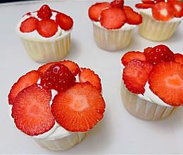 #元宵节美食大赏#这么可爱的草莓纸杯蛋糕㊙️小烤箱也能做的做法