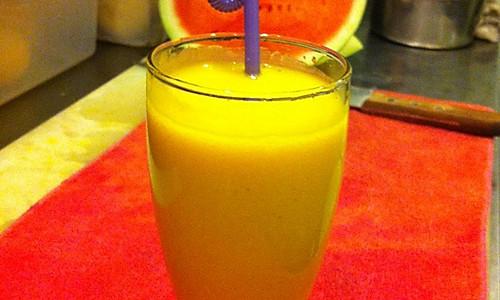 椰香木瓜汁的做法