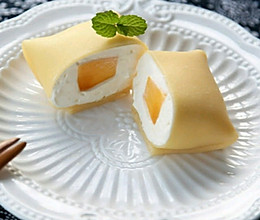 港式甜品——芒果班戟的做法
