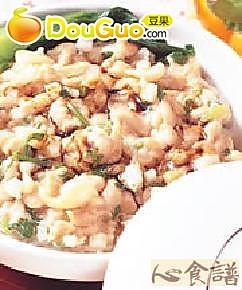 鸡茸香菜煲菜饭