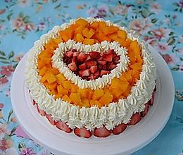 【美的绅士烤箱】芒果草莓蛋糕的做法