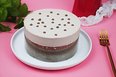 奶盖巧克力蛋糕