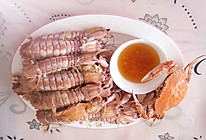 姜醋汁琵琶虾的做法