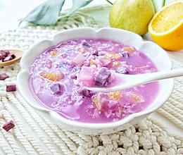 秋季宝宝开胃美食:紫薯水果粥的做法