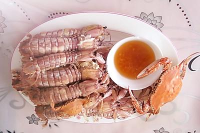 姜醋汁琵琶虾