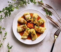 #秋天怎么吃#白菜肉卷的做法