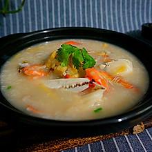 海鲜螃蟹粥----自己做的放心
