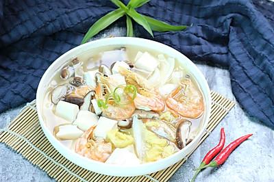 娃娃菜煮豆腐汤#单挑夏天#
