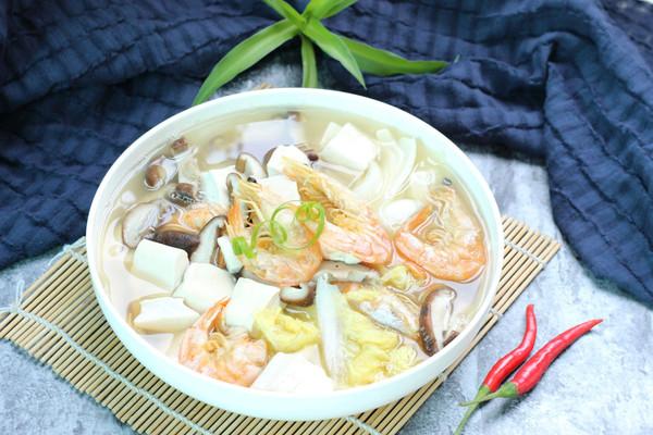 娃娃菜煮豆腐汤的做法