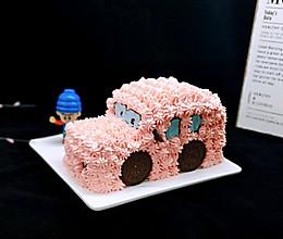 小汽车蛋糕#晒出你的团圆大餐#的做法
