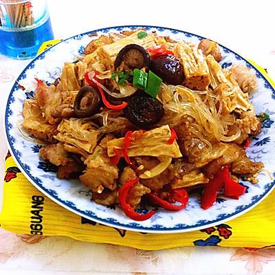 腐竹粉丝烧肉