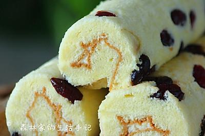 自制无添加【蔓越莓蛋糕卷】熊孩子们超爱吃