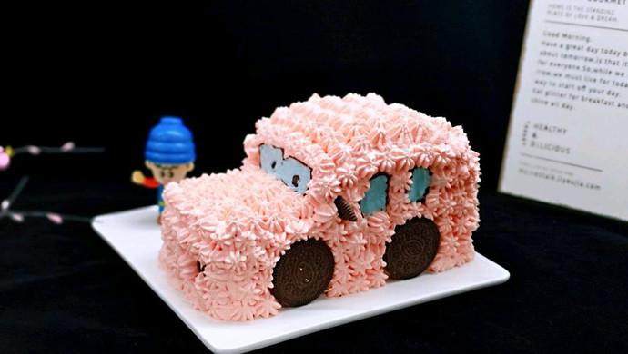 小汽车蛋糕#晒出你的团圆大餐#