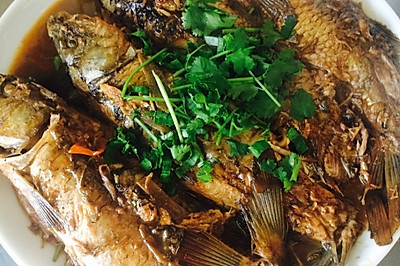 红烧个不知是什么鱼的鱼